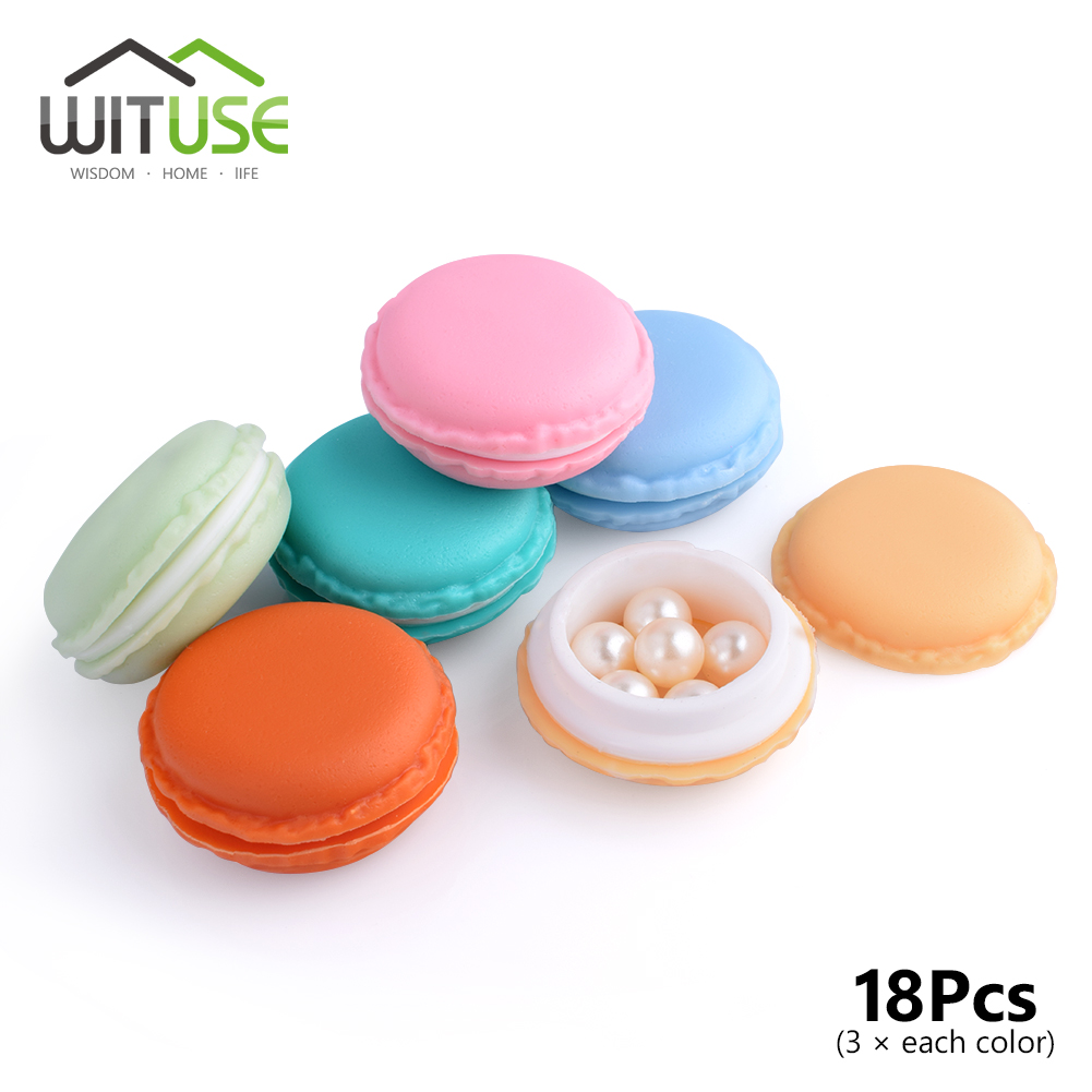 New 18Pcs Mini Earphone Card Macarons Bag Storage Box Case Carrying Pouch Small Pills Jewelry Box Organizing HOT Kawaii Case