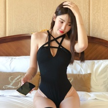 Girls 2019 Sexy Bodysuit Women Body Bandage Bodysuit Black Halter Sexy Bodysuit Club Jumpsuit Overalls цена