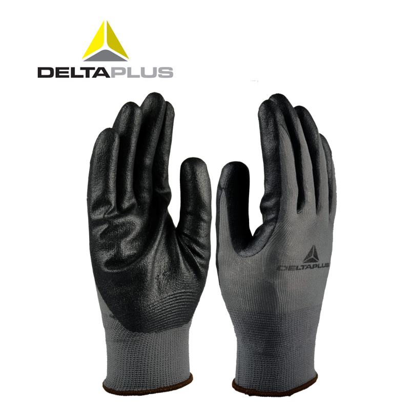 High Quality Cut-proof Labor Gloves Breathable protective gloves 1 pair Wear resistant Anti-slip Nitrile Coating Knitted Gloves cut resistant retardant gloves nitrile rubber spandex lining gloves yellow size l xl top quality gm1140
