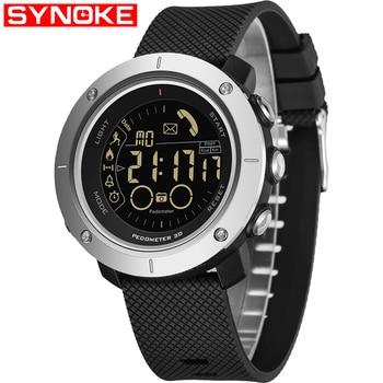 SYNOKE Smart Watch Men Pedometer Sport Watch Mens Digital Watches Clock SMS Call Reminder SmartWatch Men Waterproof Android IOS