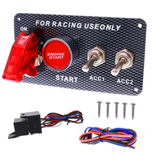 цена на Car 12V Switch Ignition Panel Switching Start Push Racing Car Engine Start Button Ignition button Switches