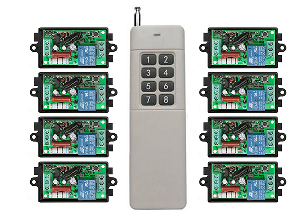 3000M Long Range AC220V 1CH RF Wireless Remote Control Relay Switch light lamp window Garage Doors