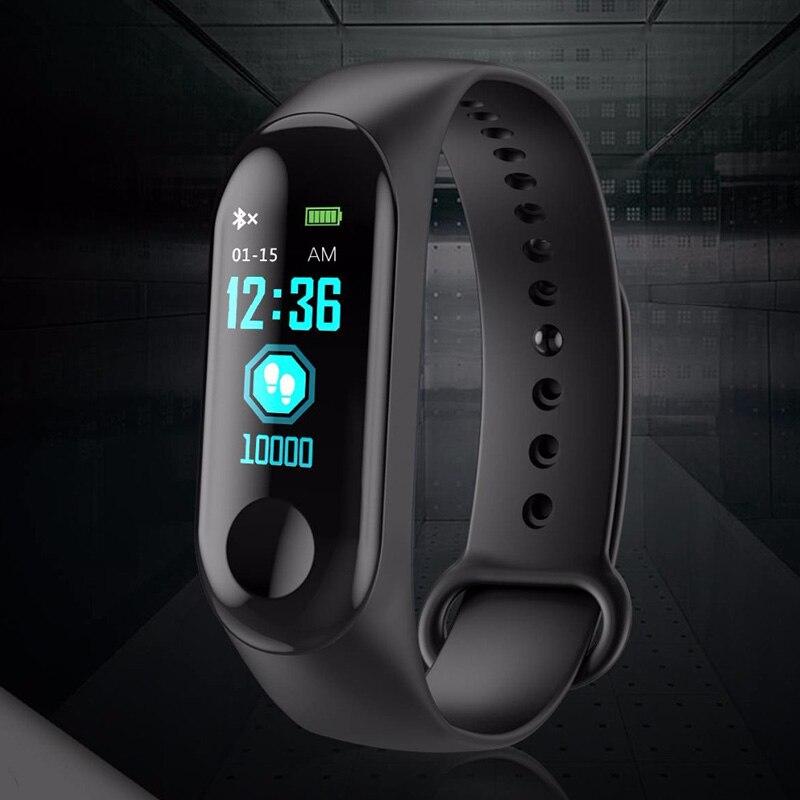 Bluetooth sport smart wristband blood pressure heart rate band waterproof fitness  1