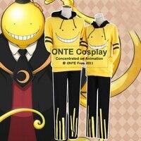 ONTE Fashion Anime Assassination Classroom Cosplay Costume Korosensei Coat Clothes Ansatsu Kyoushitsu Cos Hoodies Sweatshirts