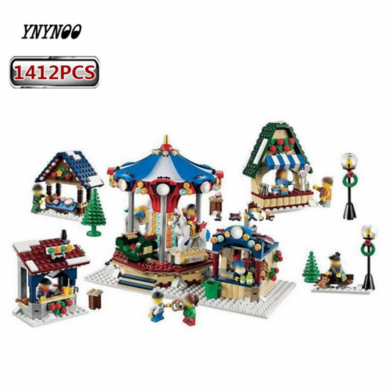 YNYNOO Lepin 36010 1412PCS Creator Winter Village Market Educational Building Blocks Bricks Toys for Children Christmas Gift dayan gem vi cube speed puzzle magic cubes educational game toys gift for children kids grownups