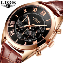 Mens Watches Top Brand Luxury LIGE Multifunction Chronograph Sport Watch Man Fashion Quartz Watches Waterproof Relogio Masculino цена и фото