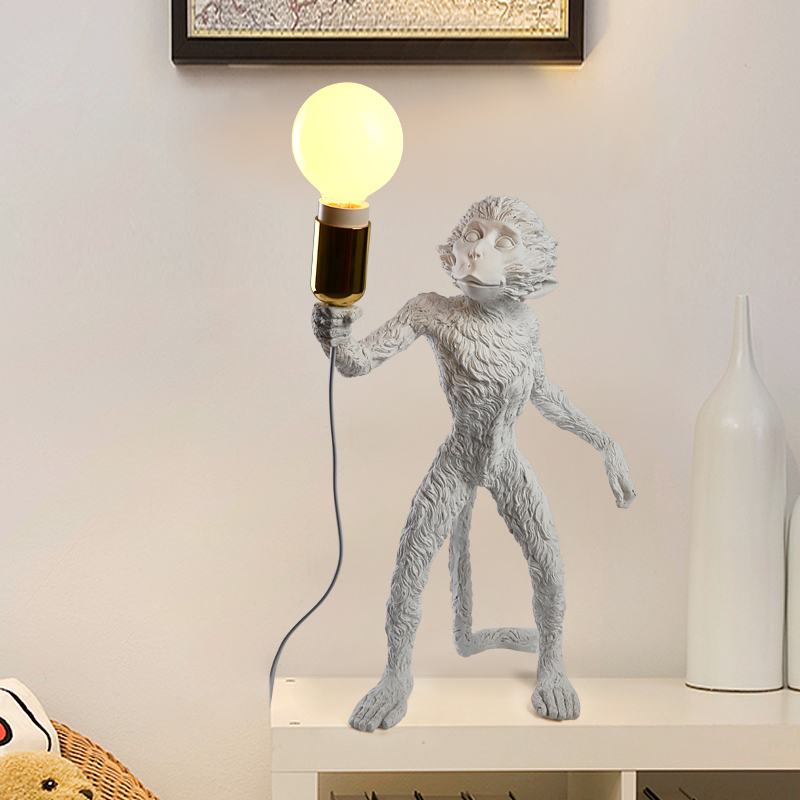 Nordic simple resin monkey led table lamp study living room nordic simple resin monkey led table lamp study living room bedroom bedside lamp decorative lighting desk lamp abajur in table lamps from lights lighting mozeypictures