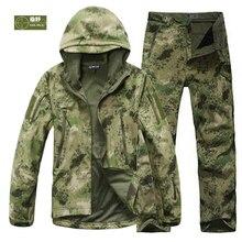HANWILD Человек Рыбалка Водонепроницаемый Охота Тактический SoftShell Открытый Куртка SharkSkin Военный Камуфляж Куртки Набор Спорт Армия S6