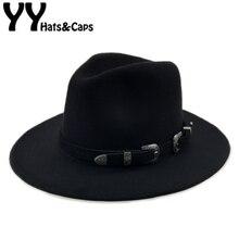Особая фетровая шляпа Мужские фетровые шляпы с поясом женские винтажные шляпы Трилби шерсть фетровая шляпа теплая джазовая шляпа женская шляпа YY17094