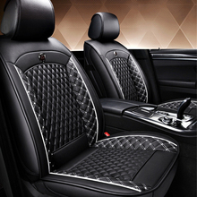 New PU Leather Auto Universal Car Seat Covers for SUV and sedan Luxury cushion Automotive of full set protector