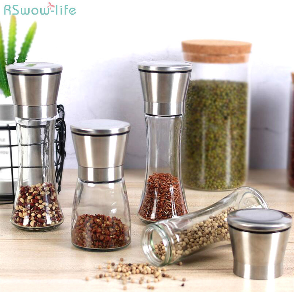 Stainless Steel Pepper Grinder Spice Jars Seasoning Bottle Salt And For Kitchen Supplies Tool
