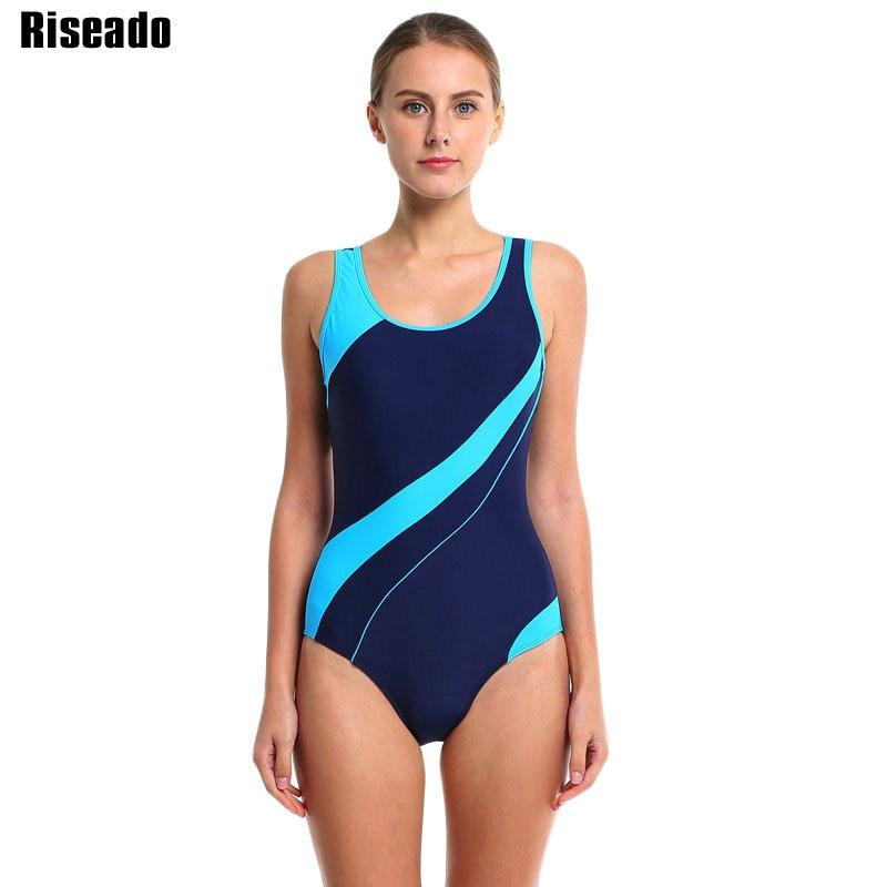 Riseado Sport Veshje rrobash për femra Patchwork Një copë rroba banje 2019 kostume konkurruese për rroba banje Veshje rrobash plazhi