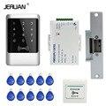 JERUAN Brand New DIY Waterproof Rfid Door Access Control Kit Set With Electric Strike Lock + 10 RFID keyfob Card In Stock