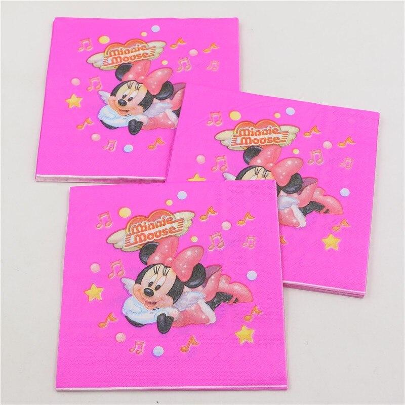 Pañales desechables de decoración fiesta de cumpleaños de Minnie baby shower kid