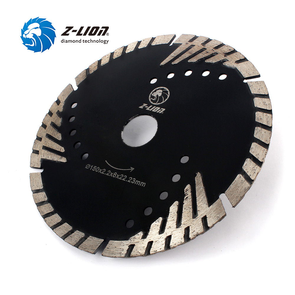 "Image 5 - Z LION 6"" 150mm Diamond Saw Blade With Slant Protection Teeth for Stone Granite Marble Concrete Diamond Cutting Disc-in Saw Blades from Tools"