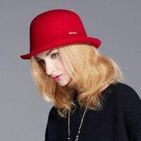 Wide brim fedora wool hat 2018 winter new fascinator hats British style fashion girls felt fedora hat church hats for women