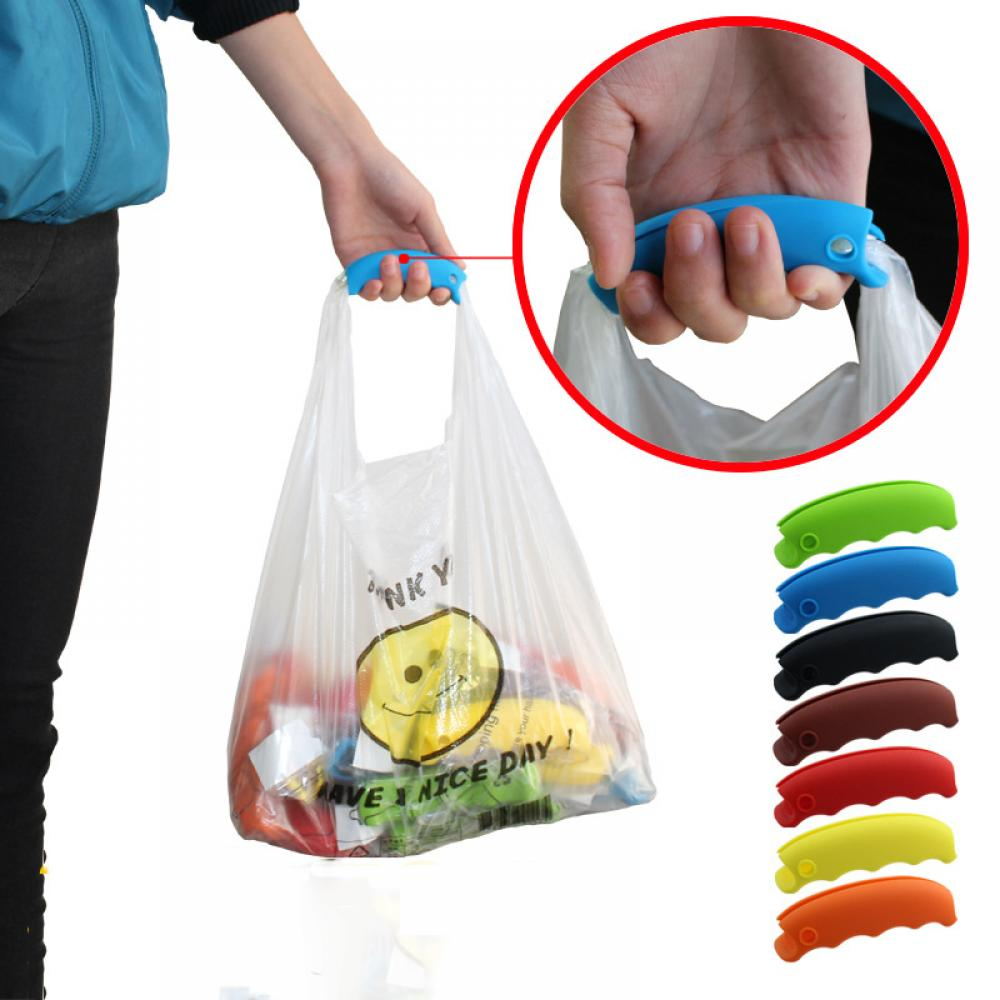 1Pc Silicone Bucket Food Stuff Shopping Labour Save Carrying Bags Handle Holder Hanger Kitchen Tools