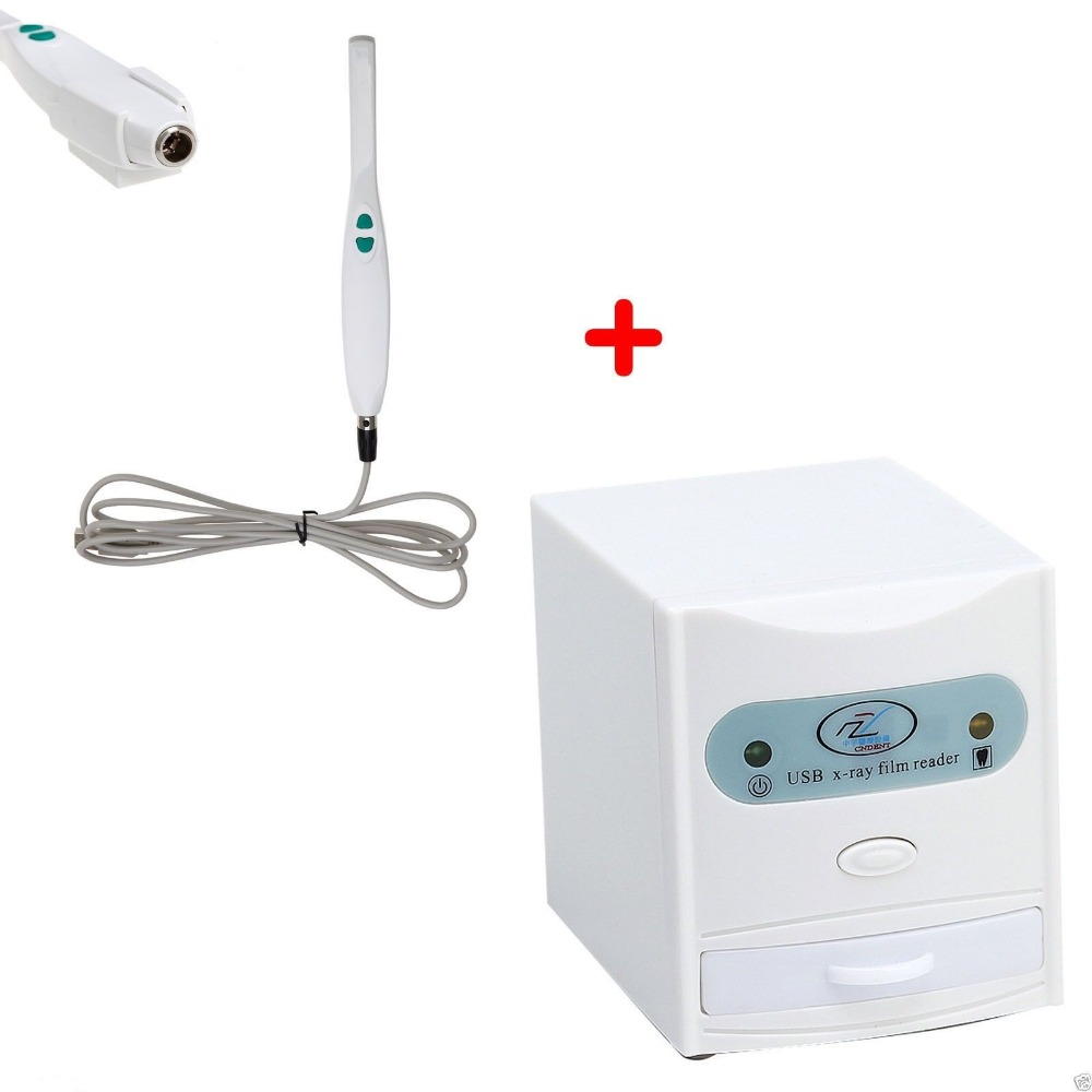 Lecteur USB de Scanner de numériseur de visionneuse de Film radiographique dentaire + caméra intra-orale P E0F