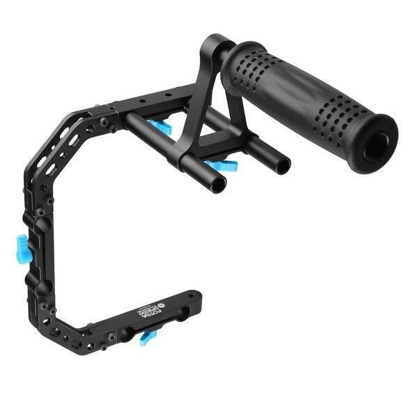 FOTGA DP3000 support de cage de poignée supérieure support pour tige DSLR 15mm suivre la mise au point