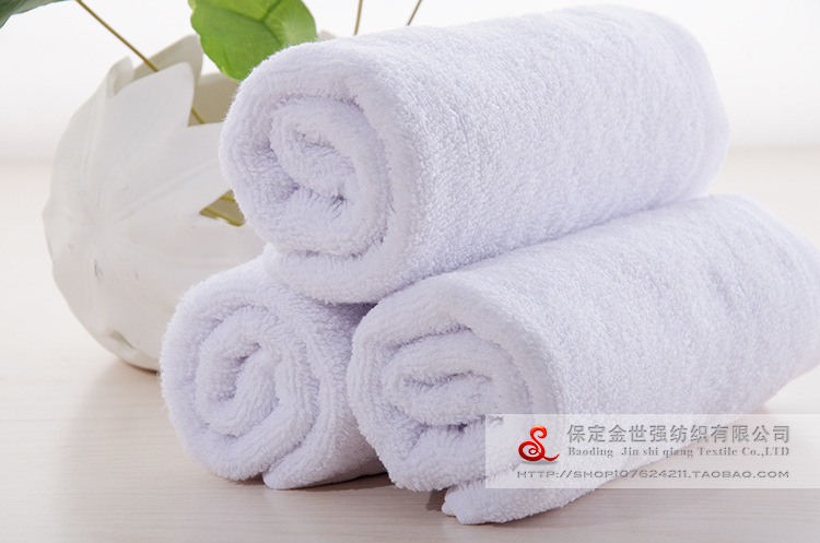Image 3 - Hotel Towel Gift white towel Cotton Towel lint white towel towel movement hotel fire India logo wholesale manufacturers-in Storage Bags from Home & Garden