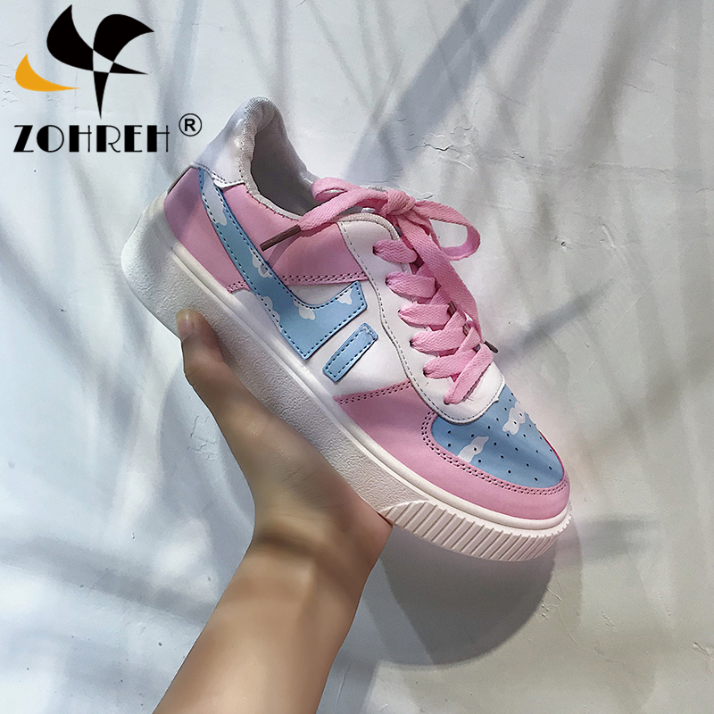 2019 Spring And Autumn Japanese Women's Single Shoes Korean Fashion Cute Flat Vulcanized Shoes Harajuku Students Wild Sneakers