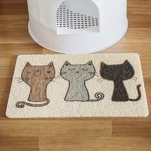 PVC Pet Cat Litter Mat Kitty Bowl Dog Feeding Drinking Pad Cute Pattern Breathable Sleeping Anti-skid Waterproof Bed