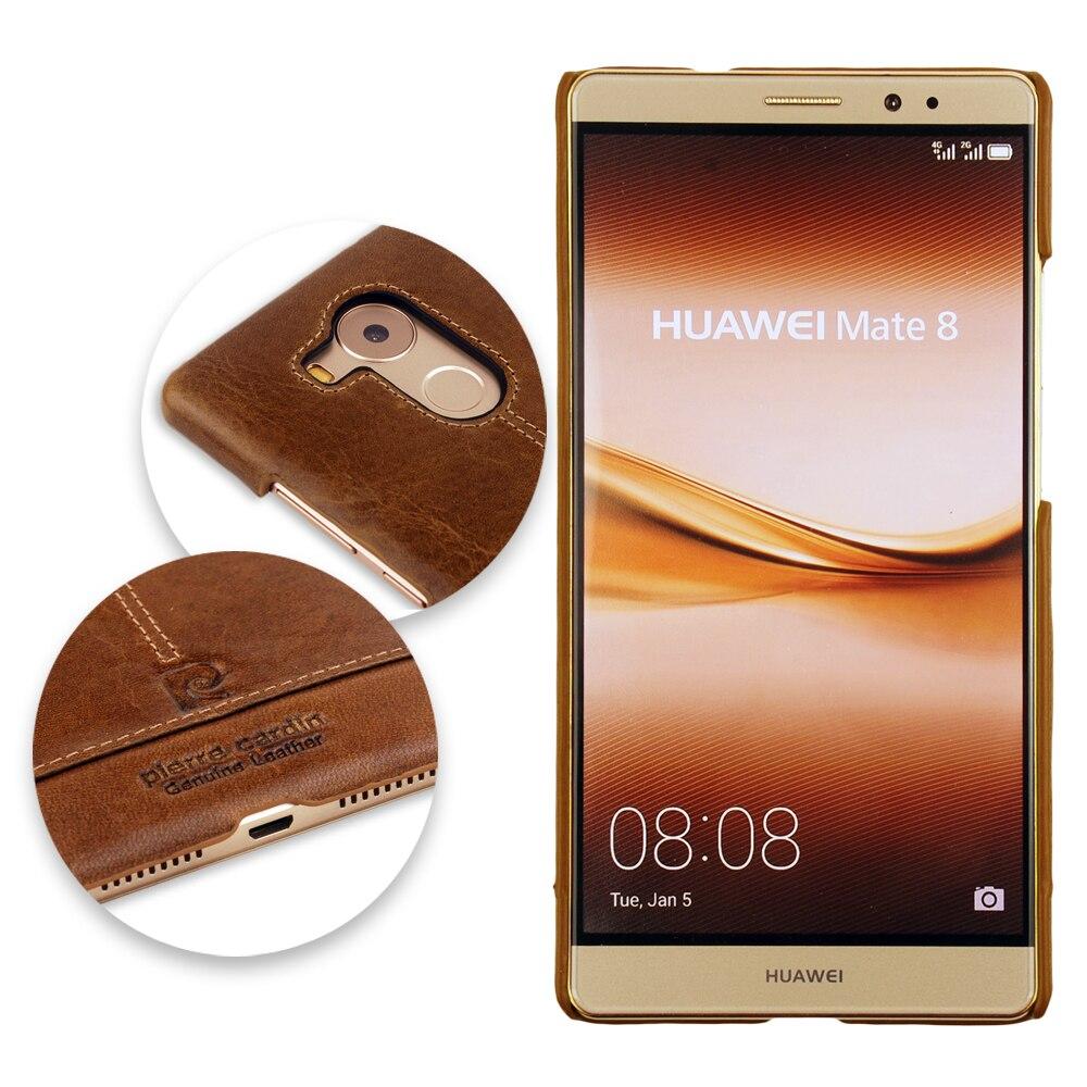 imágenes para Lujo Pierre Cardin Caso Para Huawei Mate 8 Caso de Cuero Auténtico Lujo Para Mate 8 Cubierta Protectora del Teléfono Móvil de Lujo de La Vendimia