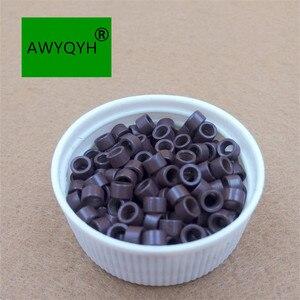 Image 2 - 10000 sztuk 4mm 4.0mm Aluminium do przedłużania włosów mikro pierścienie mikrolinki koraliki linki ze śrubami 1 # czarny