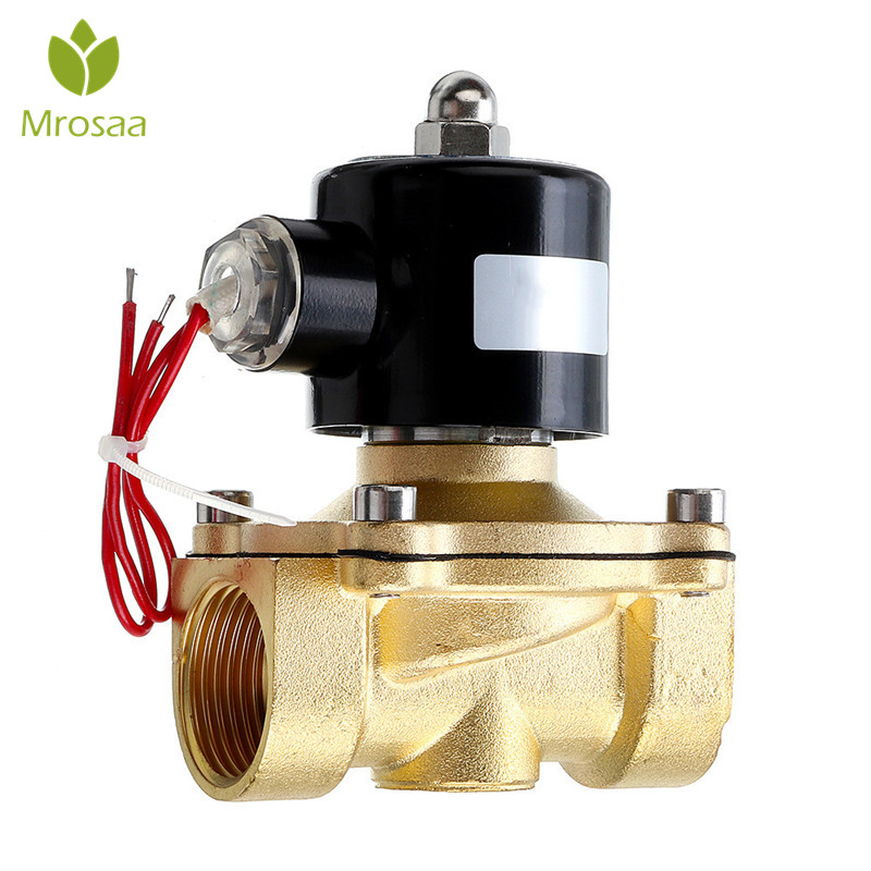1/2 3/4 1 Inch DC12V Electric Solenoid Valve Pneumatic Valve for Water Air Gas Brass Valve Air Valves Faucet Accessories