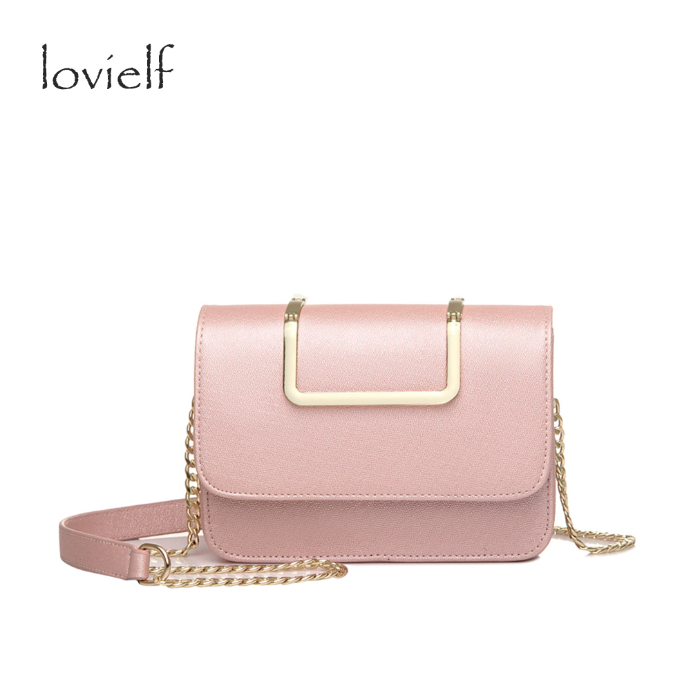 2017 Spring summer Fashion Women Girls Ice cream color Pearl lustre Chain Flap Portable Small Cross body bags Shoulder Bags Gift gift boutique endless summer ice cream recipe book