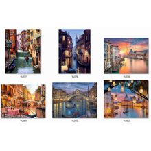 diamond painting venice kit, full drill, 5d, DIY, painting rhinestones, cross stitch, round, mosaic, diamond embroidery homelandscape 5d dy full round diamond painting cross stitch kit pattern wall sticker mosaic diamond embroidery