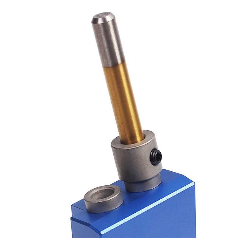 ポケット穴ジグキットシステム木材加工用 & 建具 + ステップドリルビット & アクセサリー木の仕事ツールセットとボックス