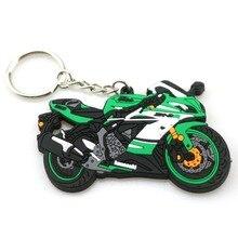 3D аксессуары для мотоциклов, брелок для мотоцикла, резиновый брелок в виде мотоцикла для KAWASAKI ZX6R, модель локомотива