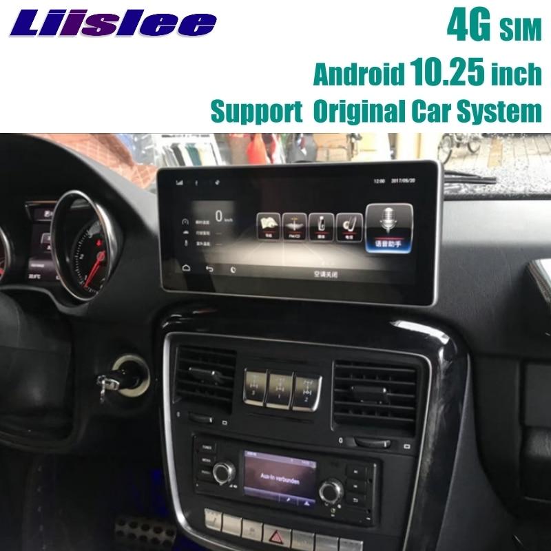 Для Mercedes Benz MB G класса 2012 ~ 2018 Liislee 2 г Оперативная память автомобильный мультимедийный плеер CarPlay адаптер NAVI Радио WI-FI gps навигации