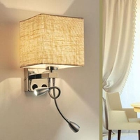 LukLoy Modern Simple Sconce LED Wall Lamp Fabric Veranda Balcony LED Wall Light Hotel Living Room Lighting Bedroom Aisle Stair