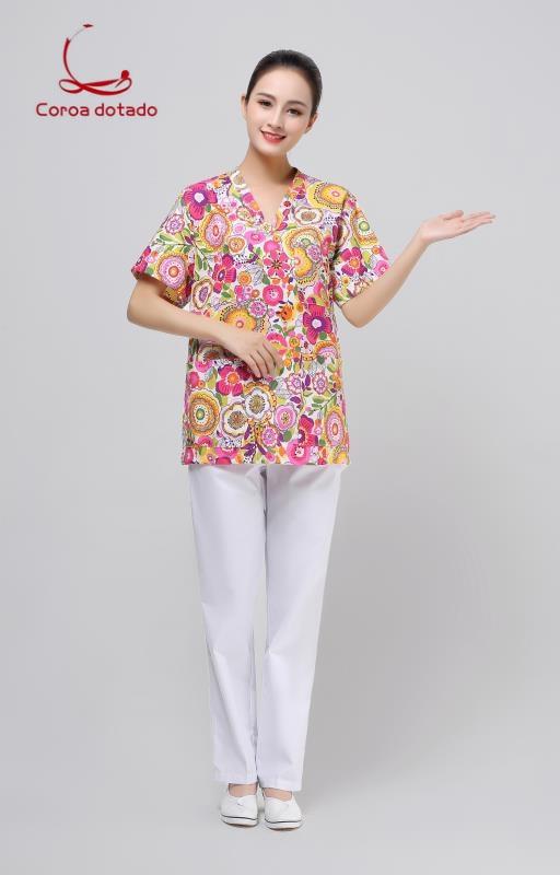 Doctors Wear Pure Cotton Men's And Women's Split Suit Operating Suit For Pets Hospital Work Clothes