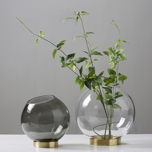 2019 Brand New Modern High Quality Glass Flower Vases Tabletop Vase Decorative Office Store Home Decorations Gifts