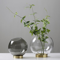 2019 Brand New Modern High Quality Glass Flower Vases Tabletop Vase Decorative Flower Vases Office Store Home Decorations Gifts