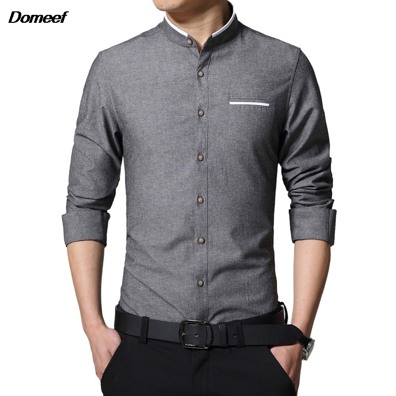 Domeef 2016 New Brand Men 39 S Casual Shirt Long Sleeve