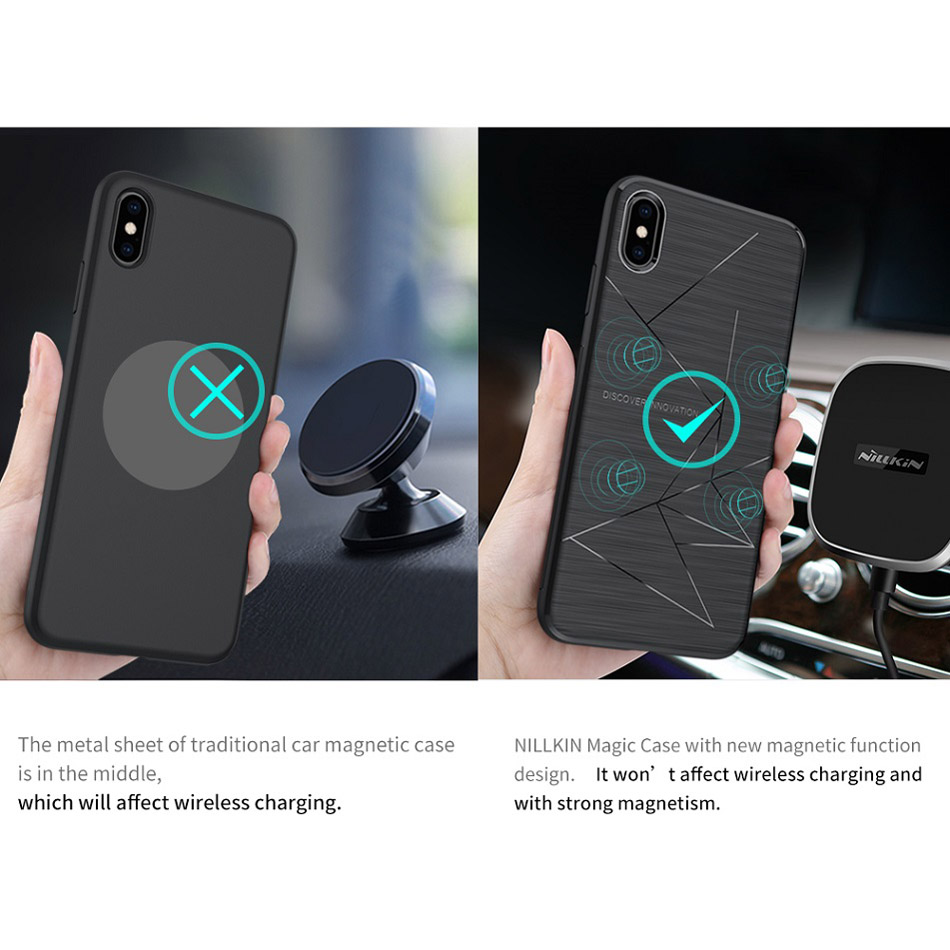 NILLKIN Magnetic Phone Cases For iPhone Xr Xs Max Soft Shockproof Case Cover For iPhone X 8 Xr Plus Cover Car Phone Holder Coque (5)