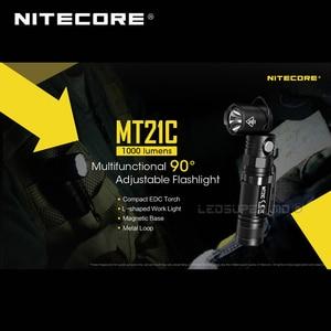 Image 5 - L Shaped Work Light Nitecore MT21C 1000 Lumens Compact EDC Torch 90 Angle Adjustable Flashlight with Magnetic Base