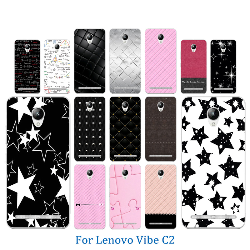 5.0 inch For <font><b>Lenovo</b></font> Vibe <font><b>C2</b></font> <font><b>Phone</b></font> <font><b>Case</b></font> Soft TPU Silicone Funda For <font><b>Lenovo</b></font> <font><b>C2</b></font> <font><b>K10a40</b></font> Colorful Pattern <font><b>Phone</b></font> <font><b>Case</b></font> Anti Knock Coque image