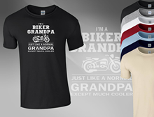 Im A Biker Grandad Funny Motorbike Fathers Day Birthday Men T shirt Top AV2 Shirt Cotton Short Sleeve Tee Shirts
