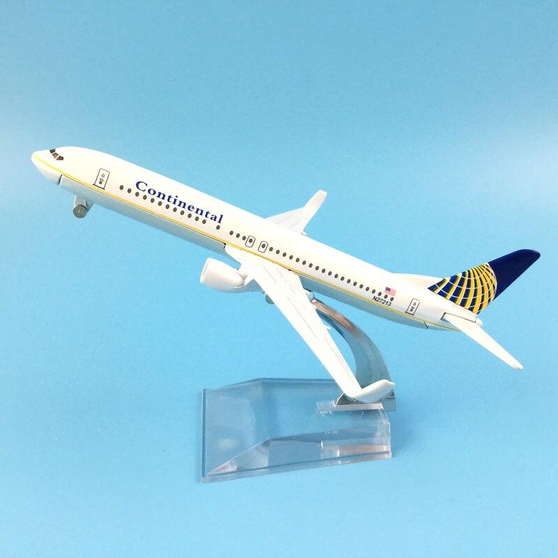 Avião de passageiros do ar continental b737 aeronaves modelo simulação avião 16 cm liga brinquedos natal presentes crianças