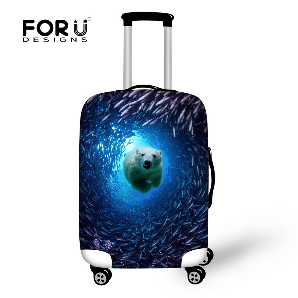 2015 Newest Tropical Fish Luggage Protective Cover For 18-30 Inch Suitcase Elastic Travel Luggage Dust Covers Ocean Animal Cover