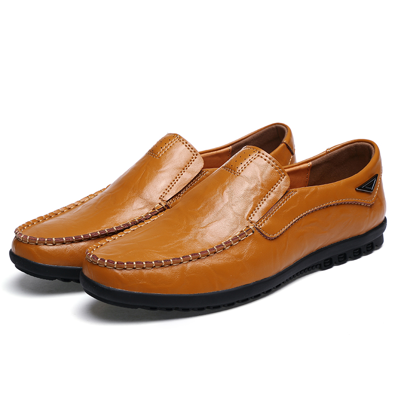 2017 men boat shoes loafers Slip on men flats shoes cow leather
