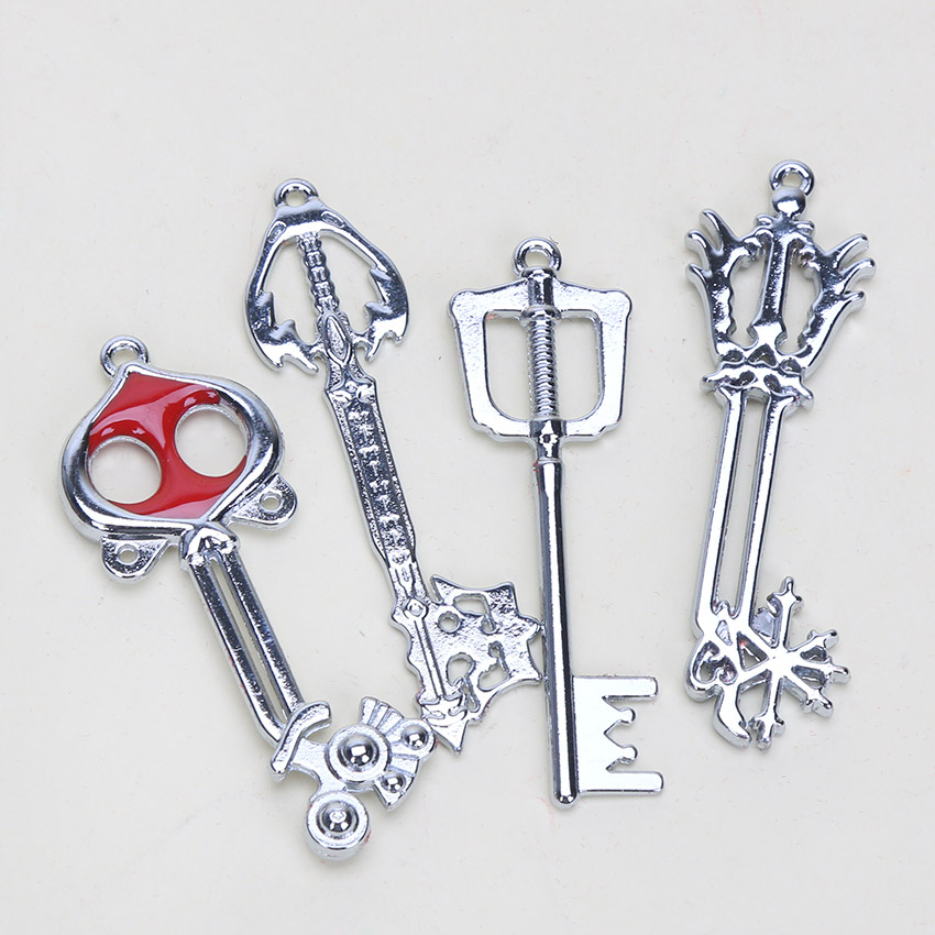 Kingdom Hearts Keyblades Pendant Best Sora Keychain Disney Necklace Video Games Merch Kingdom Hearts Kingdom Hearts Necklace Kingdom Hearts Pendants Necklace