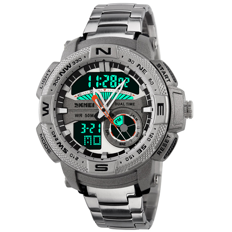 Men Solar Power Watch Led Digital Outdoor Sports Watches Diving