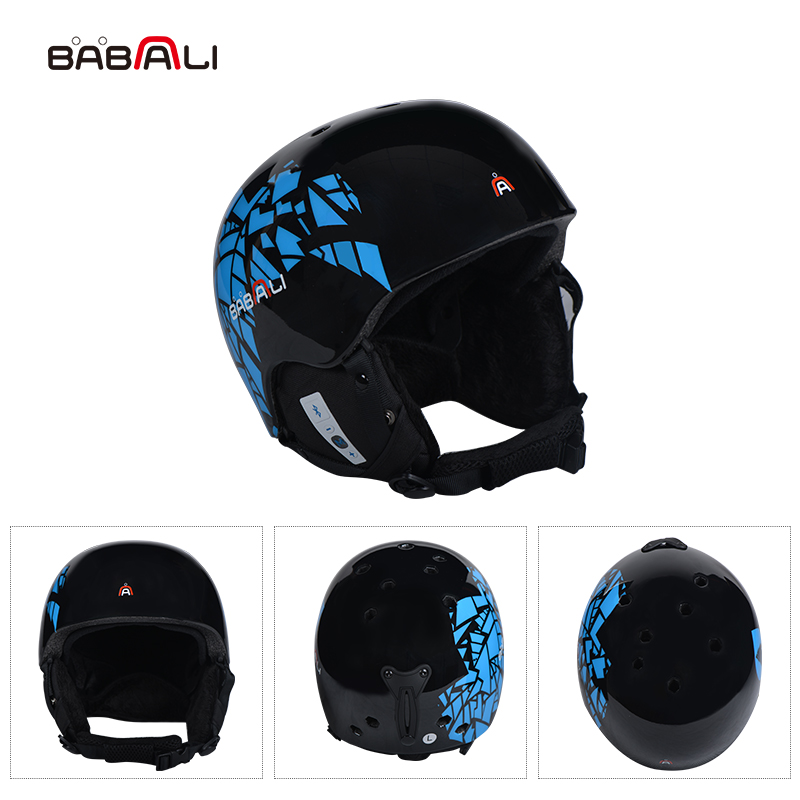BABAALI music Skiing Helmet Men Women PC/ EPS Ski Helmet Bluetooth Technology Outdoor Sports Snowboard Helmets
