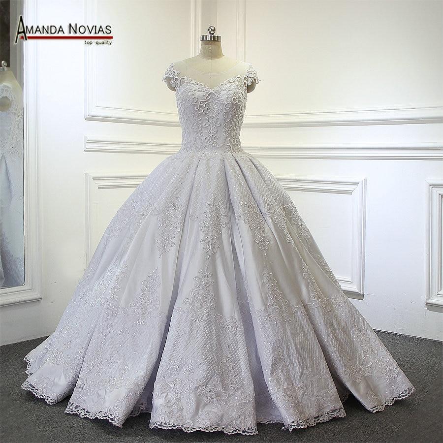 Best Ball Gown Wedding Dresses: Aliexpress.com : Buy Amanda Novias Beaded Top Luxury Ball